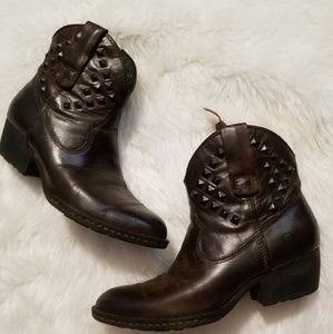 {Born} Studded Cowboy Style Boots